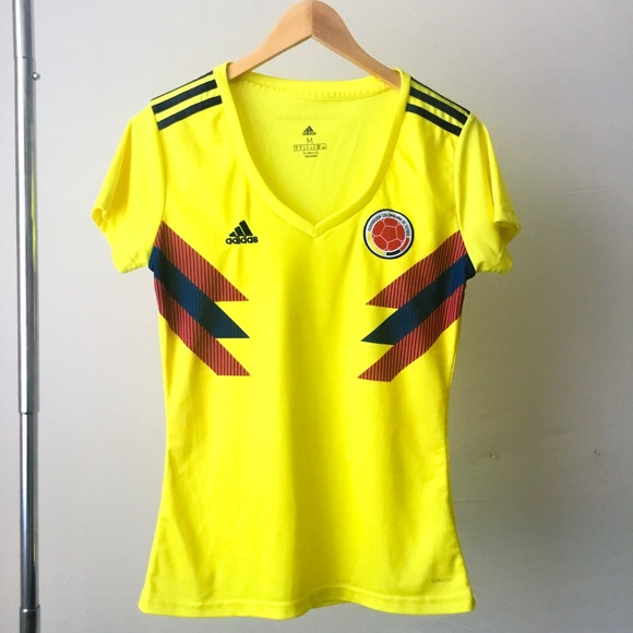 adidas Tops | Adidas Colombia Womens Soccer 28 Home Jersey | Poshmark